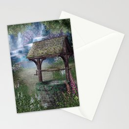 Wishing Well Waterfall Stationery Cards