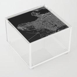 Vancouver Black Map Acrylic Box
