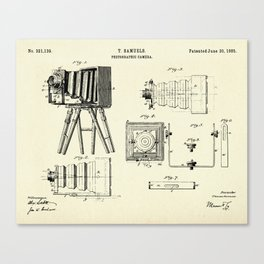 Photographic Camera-1885 Canvas Print