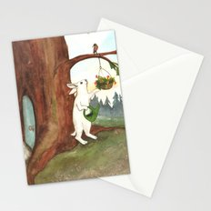 Rabbit at Home Stationery Cards