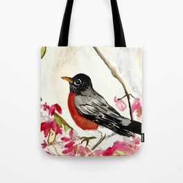 Frosty Robin Tote Bag