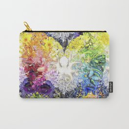 Rainbow Spectrum heart extra dense pattern Carry-All Pouch