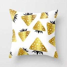 strawberry gold Throw Pillow