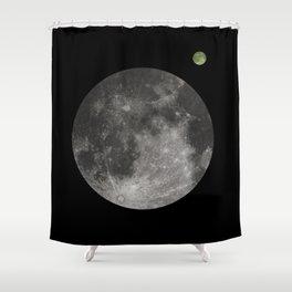 Moon - 1Q84 inspired. Clean Shower Curtain