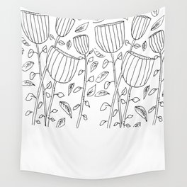 Flower Cups Wall Tapestry