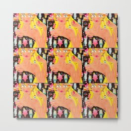 Towel, the Girl Who Loves Her Ice Cream Metal Print