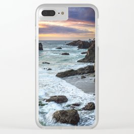 Thunder Rock Cove Sunset Coastline Clear iPhone Case