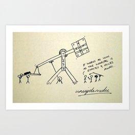 Catapult Art Print