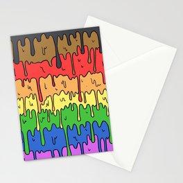 Cute Pride Pastel Melting Pride Design, 2018 pride flag Stationery Cards