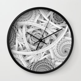 GET LOST - Black and White Spiral Wall Clock
