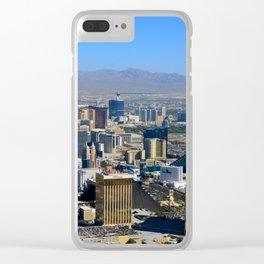 Las Vegas Nevada aerial work A Clear iPhone Case