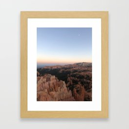 Bryce moon Framed Art Print