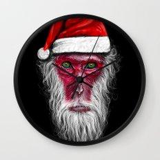 Santa Monkey Wall Clock