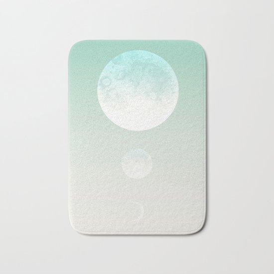 Moon triplet turquoise Bath Mat