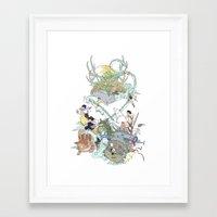 ghibli Framed Art Prints featuring Ghibli by Alba Palacio