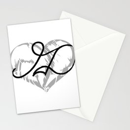 Heart ML Drawn Anime Tattoo Stationery Cards