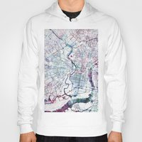 philadelphia Hoodies featuring Philadelphia map by MapMapMaps.Watercolors