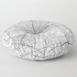 Orlando Map White Floor Pillow