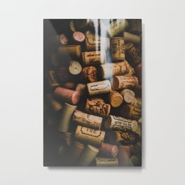 A collection of Wine Corks Photo Metal Print