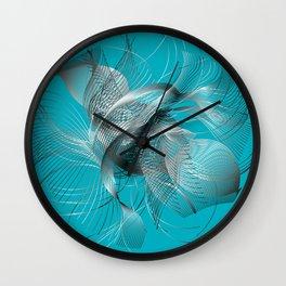 Abstract Fish Wall Clock