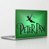 peter pan Laptop & iPad Skins featuring Peter Pan  by MandiMccl