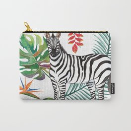 Nature Zebre pattern Carry-All Pouch
