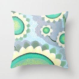 Spin Sunflower Throw Pillow