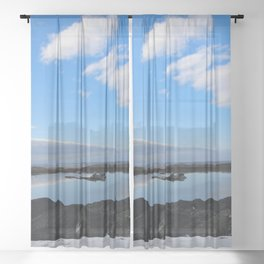 Icelandic Reflection Sheer Curtain