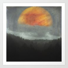 Spaces XVI - Fireball Art Print