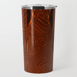 Abstract Art- Brown Art- Sacred Geometry Art- Mom From the Lotus Travel Mug