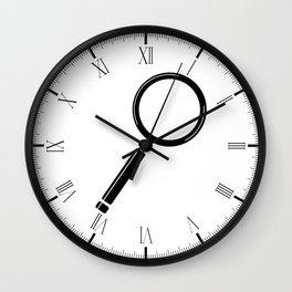 Magnifying Glass Cartoon Wall Clock