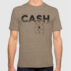 In Johnny Cash We Trust. MEDIUM Tri-Coffee Mens Fitted Tee
