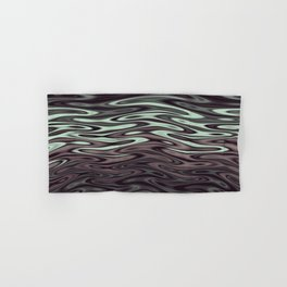 Ripples Fractal in Mint Hot Chocolate Hand & Bath Towel