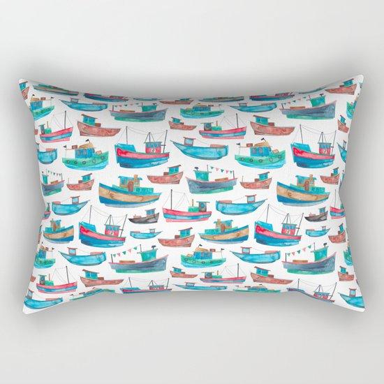 Fishing Boats Rectangular Pillow