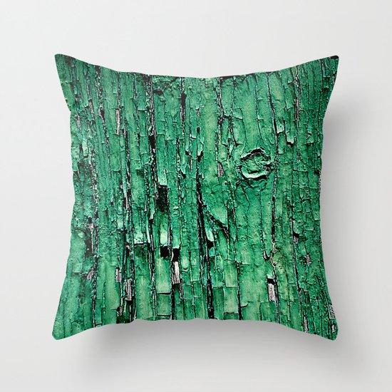 Green Paint Throw Pillow