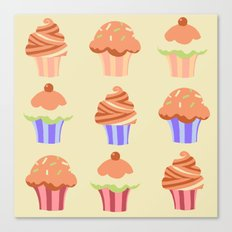 Yummy Cupcakes Canvas Print