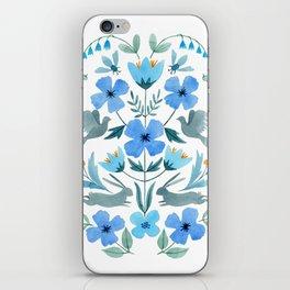 Blue Birds Bees & Bunnies iPhone Skin