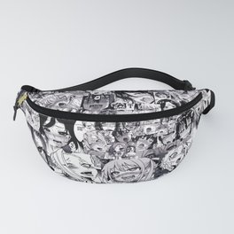 1000 Ahegao Black and White Fanny Pack