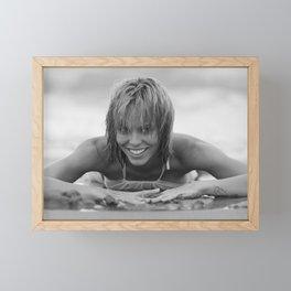 7189 Rachael enjoying Delray Beach Framed Mini Art Print