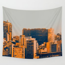 Sao Paulo Skyline II Wall Tapestry
