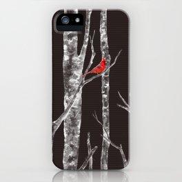 Lone Cardinal iPhone Case