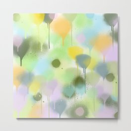 Dripping paint abstract in pastel colors Metal Print