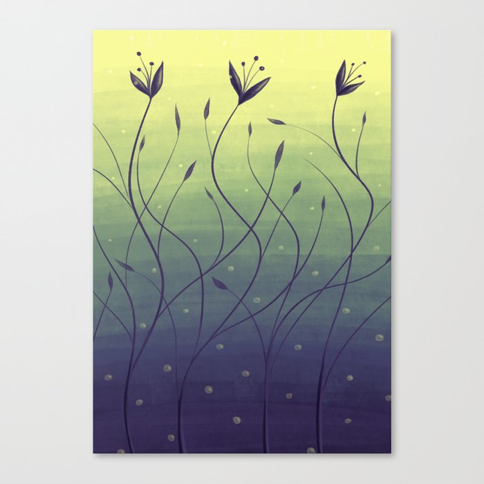 Purple Algae Plants In Green Water Canvas Print