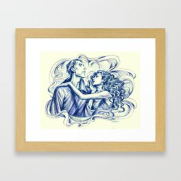 Flowing Complexity Framed Art Print