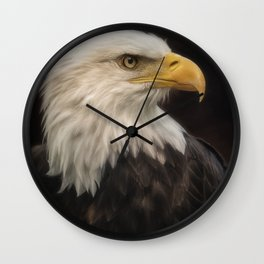 Eye Of The Eagle Wall Clock