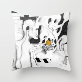 Bury the Eyes Once Gold Throw Pillow