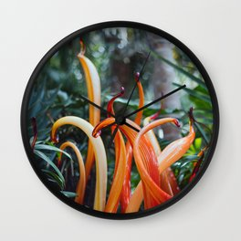 Glass Garden Wall Clock
