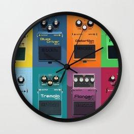 Guitar Pedals (Pop Art Style) Wall Clock