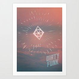 Dirty funk Art Print