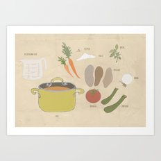Mom's Veggie Soup Art Print